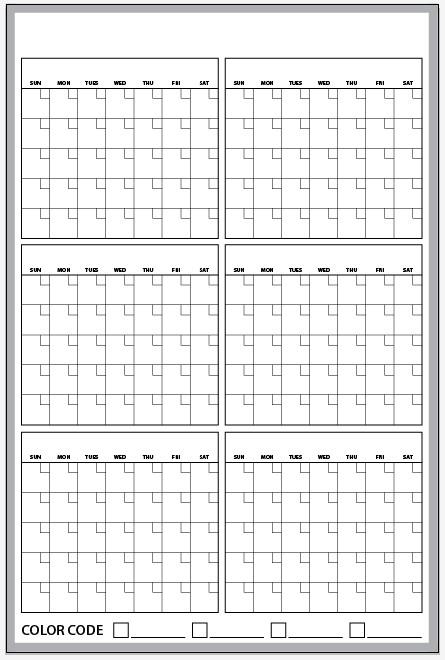 6 months calendar printable